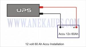 UPS 12 volt 60ah Accu Installation